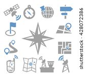 map  gps icon set | Shutterstock .eps vector #428072386