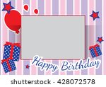 birthday card background and... | Shutterstock .eps vector #428072578