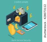 bank service security mobile... | Shutterstock .eps vector #428073112