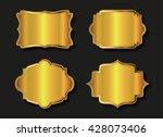 set of golden labels.vector... | Shutterstock .eps vector #428073406