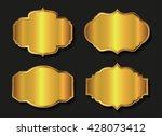 golden labels.vector... | Shutterstock .eps vector #428073412