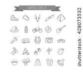 vector camping summer icons set ... | Shutterstock .eps vector #428073532
