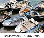 Group Of Small Fishing Boats ...