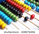 Close Up Colorful Abacus ...