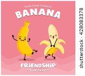 vintage banana poster design... | Shutterstock .eps vector #428083378