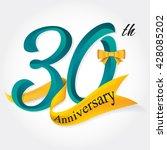 anniversary emblems 30... | Shutterstock .eps vector #428085202
