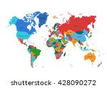 political world map | Shutterstock .eps vector #428090272