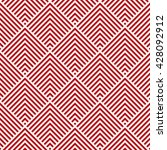 pattern stripe seamless red and ... | Shutterstock .eps vector #428092912