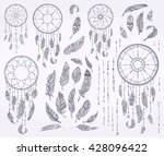 ink doodle dream catchers... | Shutterstock .eps vector #428096422