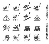 slippery icons set | Shutterstock .eps vector #428098552