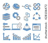 data analysis  information ... | Shutterstock .eps vector #428106472