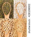 closeup grains on spoon... | Shutterstock . vector #428108002