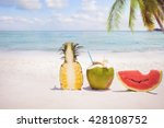summer fruit concept with... | Shutterstock . vector #428108752