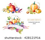 colorful autumn collection with ... | Shutterstock . vector #428121916