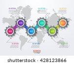 vector infographic template... | Shutterstock .eps vector #428123866