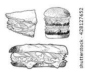 illustration of sandwich burger ... | Shutterstock .eps vector #428127652