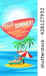 summer holidays background.... | Shutterstock .eps vector #428127952
