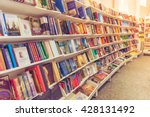 rows of different colorful... | Shutterstock . vector #428131492