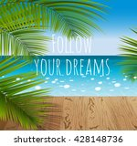 sunny summer day in a tropical...   Shutterstock .eps vector #428148736