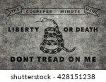 Historic Culpeper Minutemen flag, Worn distressed version