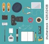 hipster flat design. modern...   Shutterstock .eps vector #428152438