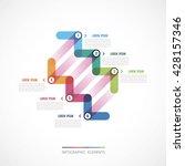 diagonal arrows modern design... | Shutterstock .eps vector #428157346