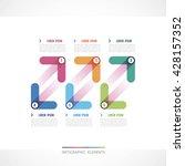 modern design of a template ... | Shutterstock .eps vector #428157352