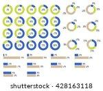 vector percentage infographics.... | Shutterstock .eps vector #428163118