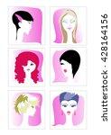 vector set of different women...   Shutterstock .eps vector #428164156