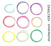 vector colored pencils circles. ... | Shutterstock .eps vector #428170942