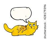 freehand speech bubble textured ... | Shutterstock .eps vector #428179396