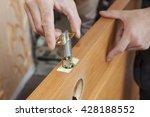 installation locked interior...   Shutterstock . vector #428188552