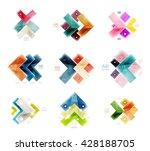 arrow geometric banner.... | Shutterstock .eps vector #428188705