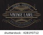vintage typographic label... | Shutterstock .eps vector #428193712
