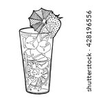 hand drawn sketch alcoholic... | Shutterstock .eps vector #428196556