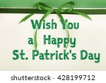 card decorated with green bow... | Shutterstock . vector #428199712