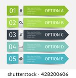 modern infographic lines set.... | Shutterstock .eps vector #428200606