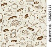 tea party kitchen tools... | Shutterstock .eps vector #428205316