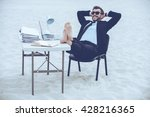 time to relax. handsome young...   Shutterstock . vector #428216365