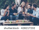 spending time with friends.... | Shutterstock . vector #428217232