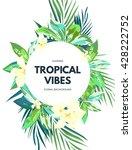 bright hawaiian design with... | Shutterstock .eps vector #428222752