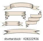 vintage ribbon banners vector... | Shutterstock .eps vector #428222926