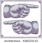 vintage hands with pointing... | Shutterstock .eps vector #428223115