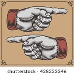 vintage hands with pointing... | Shutterstock .eps vector #428223346