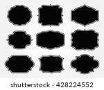 vintage label.decorative frame... | Shutterstock .eps vector #428224552