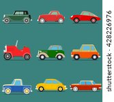 set of vintage car. isolated on ... | Shutterstock . vector #428226976