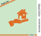 house in hand vector icon. | Shutterstock .eps vector #428229982