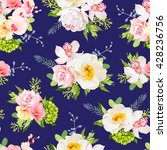 navy blue summer garden... | Shutterstock .eps vector #428236756