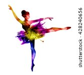 ballerina. watercolors in... | Shutterstock . vector #428240656