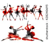ballerina. watercolors in... | Shutterstock . vector #428240695